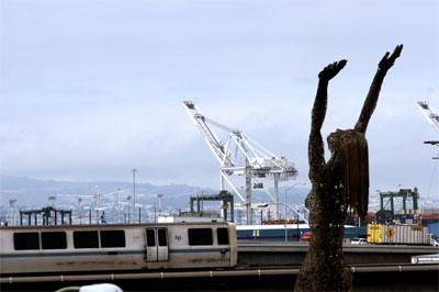 Athena, BART, Cranes