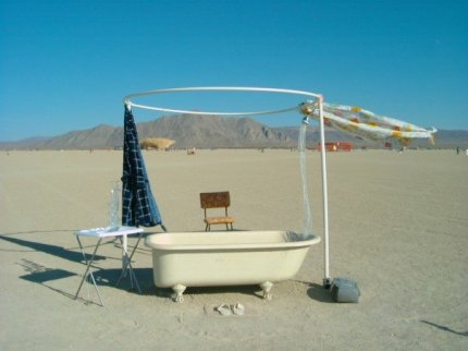 Bathtub of Yarn, Burning Man 2006