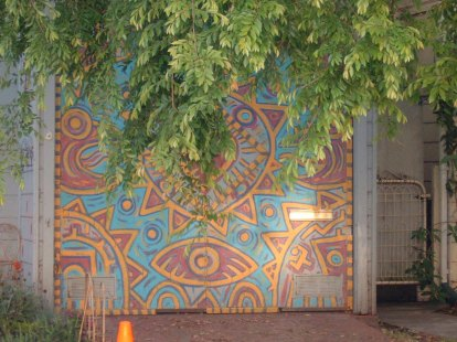 North Oakland Garage Mural
