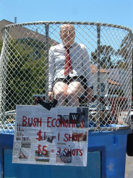 A good old fashioned dunk tank, Oakland style.