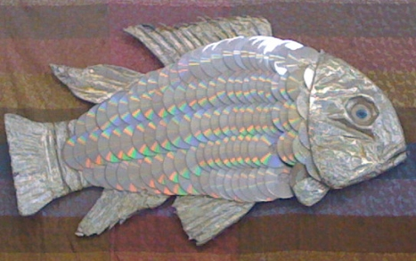 My favorite distraction in this store was easily this fish made out of old cds. Not for sale, but hopefully a new permanent fixture at the depot.