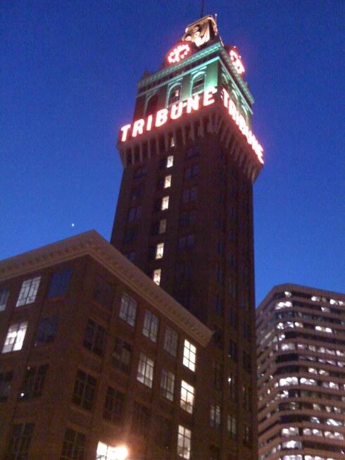 tribune-tower-at-night