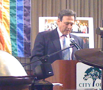 City Attorney John Russo told the audience about the resolution he introduced while on the City Council in support of domestic partnership. Even back then, he knew that was just an incremental step towards full marriage equality.