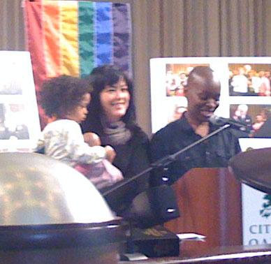 La Raye Lyles, Lisa Fujie Parks, and their daughter.