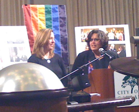 Samee Roberts and Karen Boyd, the first couple to be married by Mayor Dellums in June 2008.