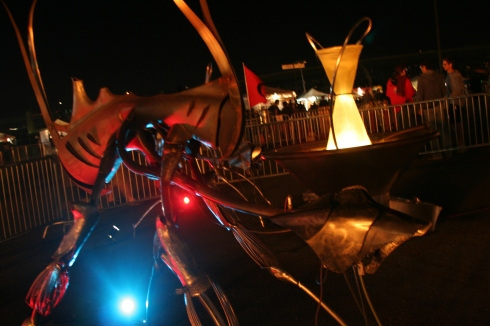 There were strange creatures featured throughout the festival, including ones without fire elements.