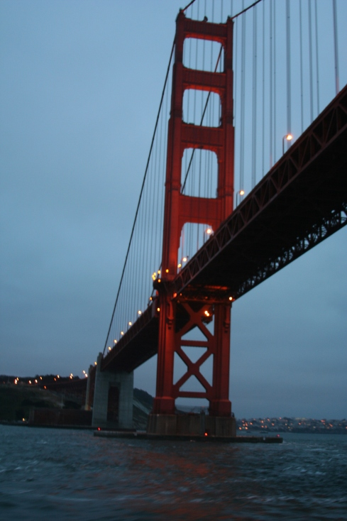 People on the boat got really excited when we passed under the Golden Gate, and I must admit it was a stunning view.