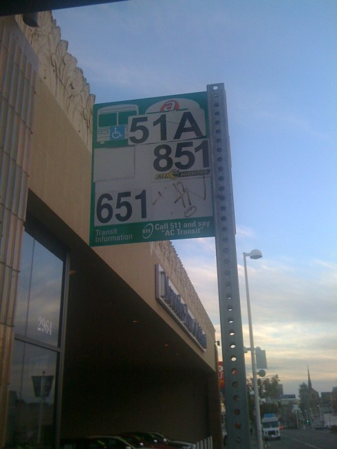 My 51 bus stop