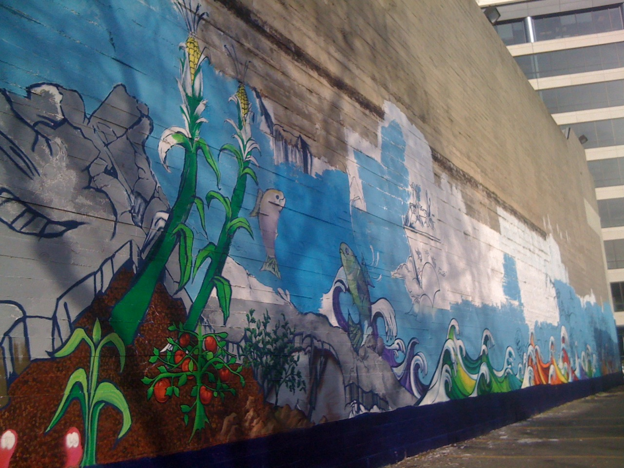 Oceans and farms come to uptown living in the o for Broadway wall mural