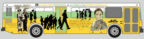 Freedom Bus rendering - left side