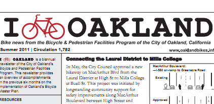 I Bike Oakland Newsletter